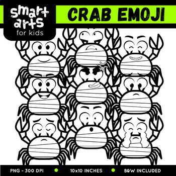 Crab Emoji Clip Art