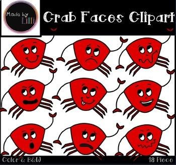 Crab Faces Clipart