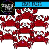 Crab Faces: Summer Clipart {Creative Clips Clipart}