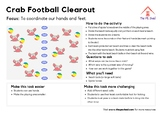 Crab Football Clearout - Free PE Soccer Game