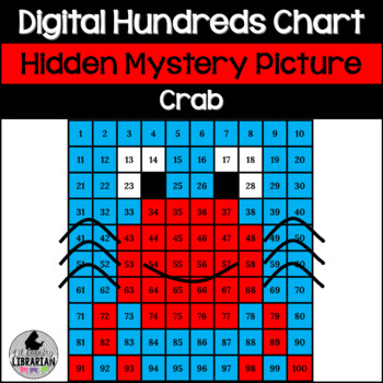 Crab Hundreds Chart Hidden Picture Activity for Oceans and Summer Themes