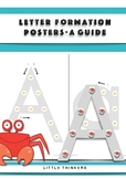 Crab Letter Formation Posters