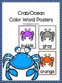 Crab (Ocean Theme) Color Posters