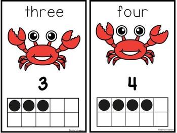 Crab/Ocean Theme Ten Frame Mats Dollar Deal