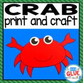 Crab Craft Activity and Creative Writing