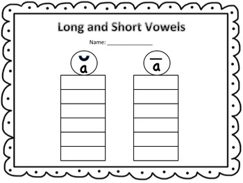 """Crabby Cakes Anyone? (Long and Short Vowel """"a"""" Words)"""