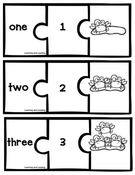 Crabby Counting: 0-10 Number and Number Word Recognition Puzzle