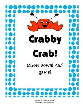 Crabby Crab short vowel a game