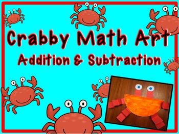 Crabby Math Art- addition and subtraction