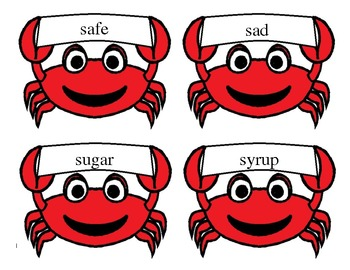 Crabby's /S/ flash cards