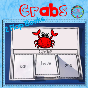 Ocean Animals - Crabs Writing Flap Books