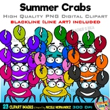 Crabs Clipart | Summer Clip Art for Personal and Commercial Use