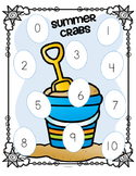 Crabs Ocean Matching Numbers to Sets 0-10