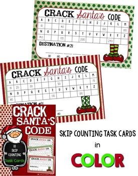 Crack Santa's Code - 10 Skip Counting Task Cards