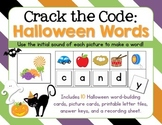 Crack The Code HALLOWEEN Words: Use Initial Sounds to Crack The Code!