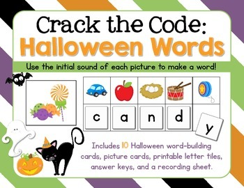 Crack The Code HALLOWEEN Words: Use Initial Sounds to Crac
