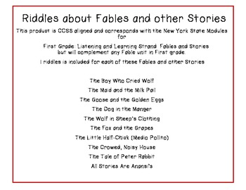 Crack The Code Riddles about Fables and other Stories