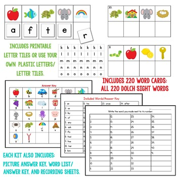 Crack The Code Dolch Sight Words BUNDLE:  Use Initial Sounds to Crack The Code!