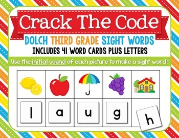 Crack The Code Third Grade Sight Words:  Use Initial Sound