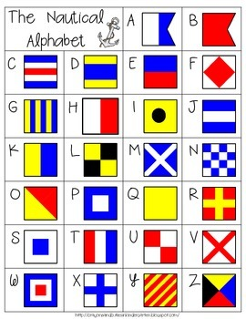 Crack The Code!  Using Nautical Flags to Decipher Summer Themed Words!