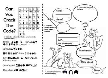 Crack The Code Worksheet