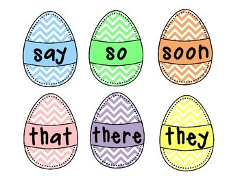 Crack! Two Easter Sight Word Games