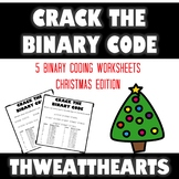 Crack the Binary Code Christmas Worksheets