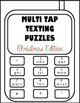 Multi Tap Texting Puzzles Christmas Edition