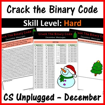 Crack the Binary Code – December Message (CS Unplugged)