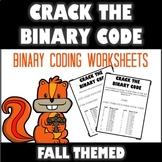 Crack the Binary Code Fall Worksheets