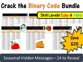 Crack the Binary Code GROWING Bundle - Skill Levels: Easy & Hard (CS Unplugged)