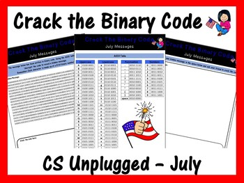 Crack the Binary Code – July Message (CS Unplugged)