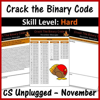 Crack the Binary Code – November Message (CS Unplugged)