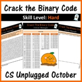 Crack the Binary Code – October Message (CS Unplugged): Skill Level - Hard