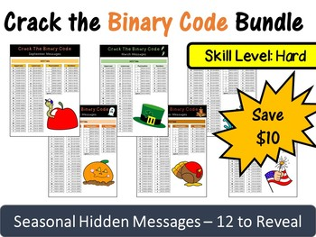 Crack the Binary Code – Seasonal Monthly Messages (Save $10)