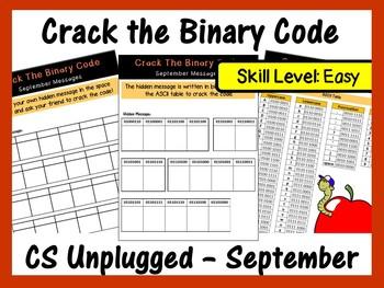 Crack the Binary Code – September Message (Skill level – Easy)