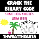 Crack the Binary Code Summer Worksheets