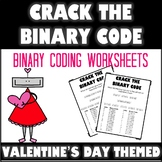 Crack the Binary Code Valentine's Day Worksheets