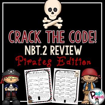 Crack the Code 3.NBT.2 Review Pirate Escape Activity (Go Math Chapter 1)