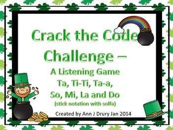 Crack the Code - A Listening Challenge for So, Mi, La, Do,