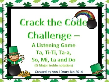 Crack the Code - A Listening Challenge in Treble Notation for So, Mi La and Do