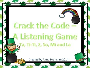 Crack the Code - A Listening Challenge for So, Mi, La and