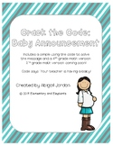 Crack the Code: Baby Announcement