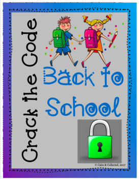 Crack the Code--Back To School