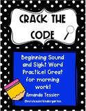 Crack the Code- Beginning Sound Practice