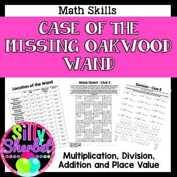 Crack the Code Case of the Missing Oakwood Wand (Math Skills)