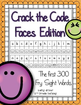 Crack the Code Faces Edition First 300 Fry Sight Words
