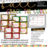 Crack the Code Fall Math Task Cards