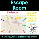 Crack the Code Geometry, Area, and Perimeter Escaping the Room Activity