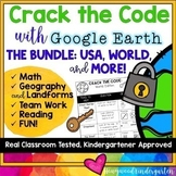 Earth Day Activities : Google Earth Challenge BUNDLE : World , USA , Seasonal